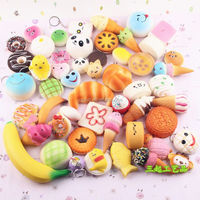OEM/Customized PU super slow rise squishies pack 30 toy squishy charms