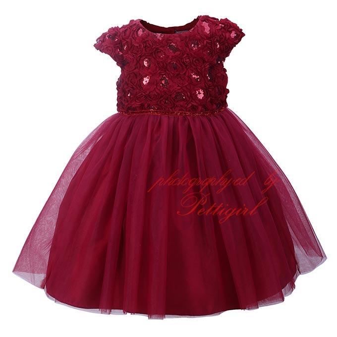 vestidos de nina color vino