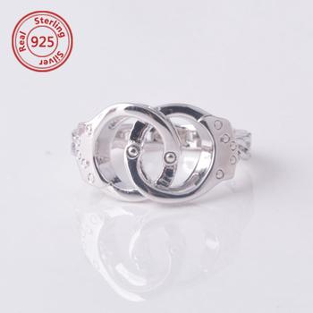 Handcuff Ring In Sterling Silver Desgin Jewelry Wife Friend