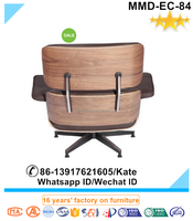 Comfortable Emes Charles Lounge Chair and Ottoman,Ottoman Aniline Leather replica Home Furniture