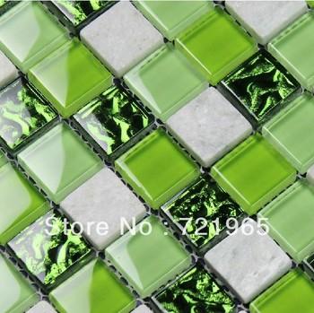 wei marmor fliesen gr n glasmosaik k che backsplash. Black Bedroom Furniture Sets. Home Design Ideas