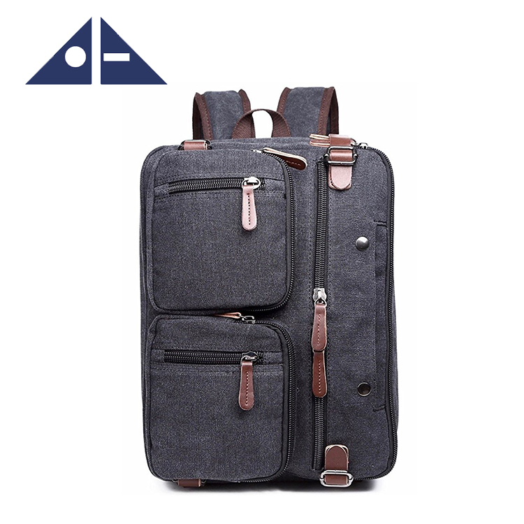 Laptop Messenger Hybrid Briefcase Backpack With Canvas A Bit Of Leather Buy Laptop Bag Messenger Bag Hybrid Briefcase Backpack Product On Alibaba Com