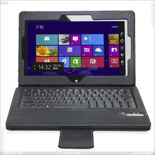 Black soft leather case with bluetooth keyboard for ASUS VivoTab Smart ME400C P-ASUSME400CASE001