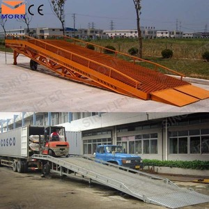 10t hydraulic container loading dock ramp lift