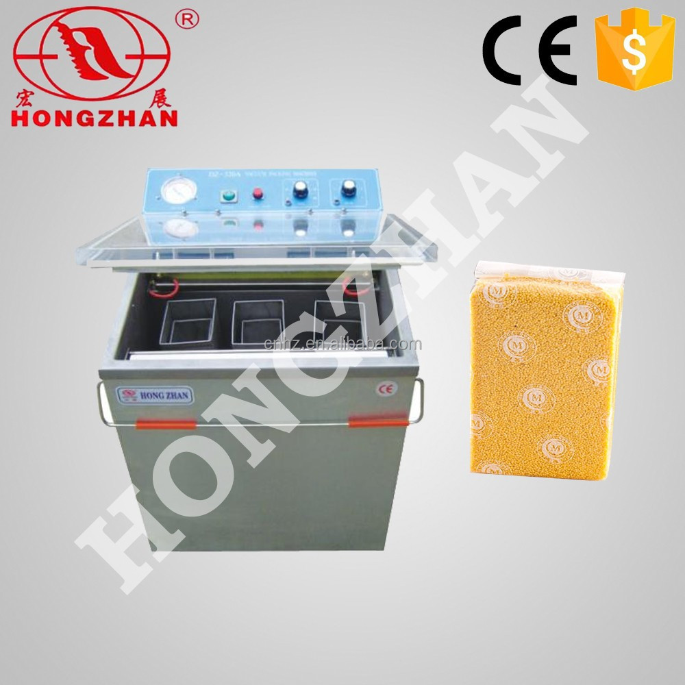 Hot sale DZ 320 Wenzhou Hongzhan stianless steel rice coffee single chamber 300mm vacuum packing machine