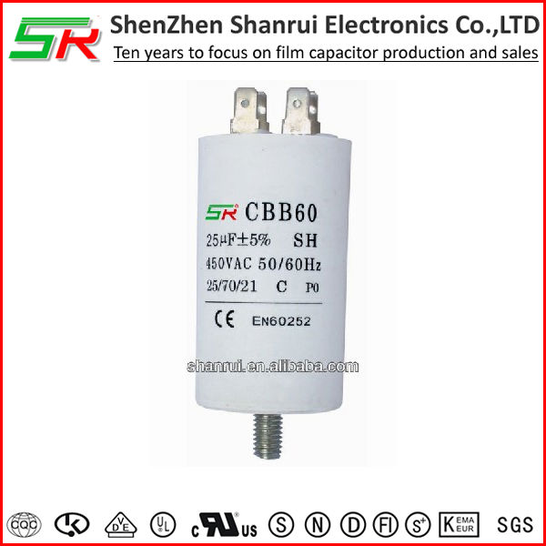 Factory direct cbb60 wuxi motor capacitor from China
