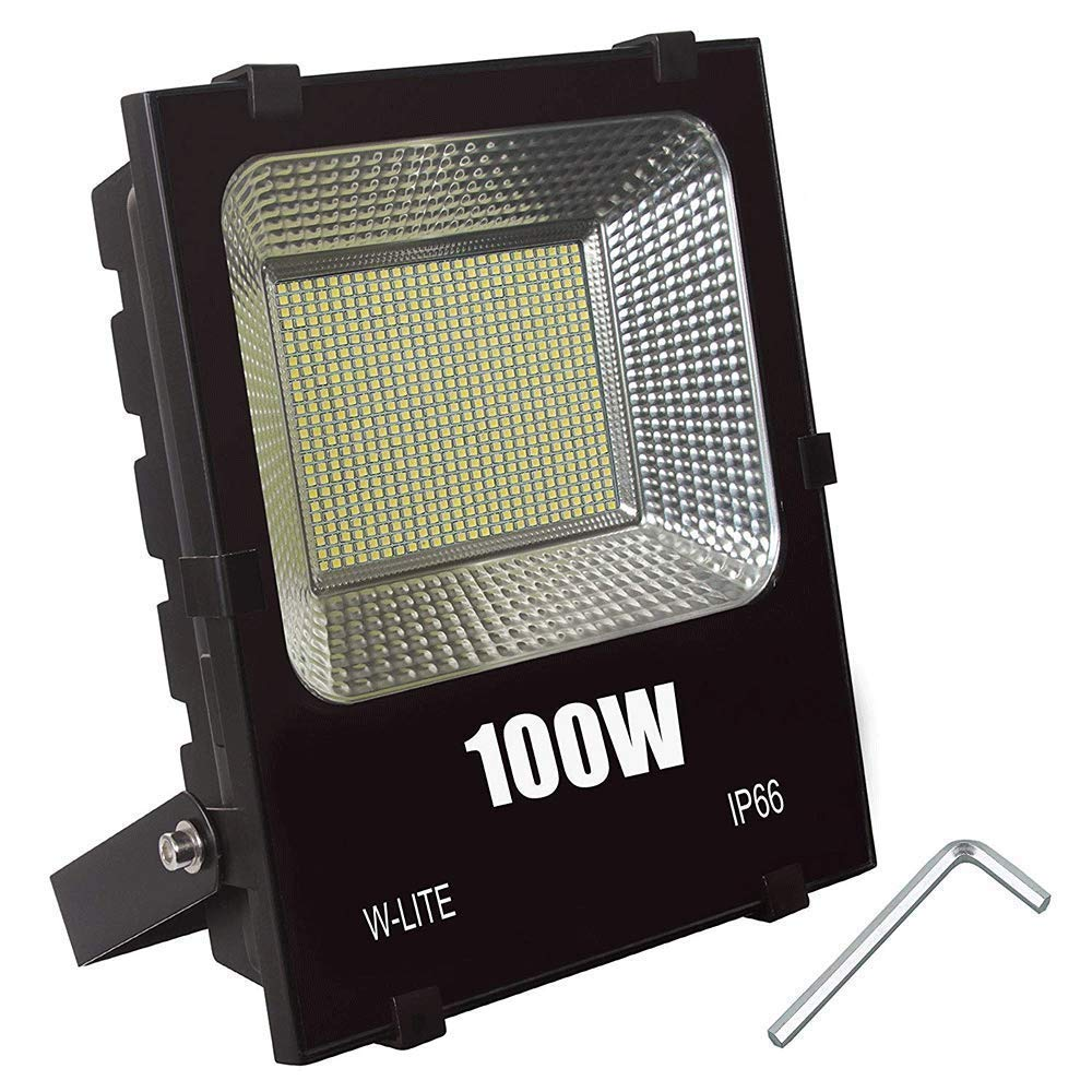 Flood Light Outdoor,100W Super Bright 600 LED, 11000LM, Soft Daylight White, led Yard Light, 800W Equivalent, Exterior spot Light fixtures, Security Lighting, led Warehouse Lights,Bowfishing Lights.