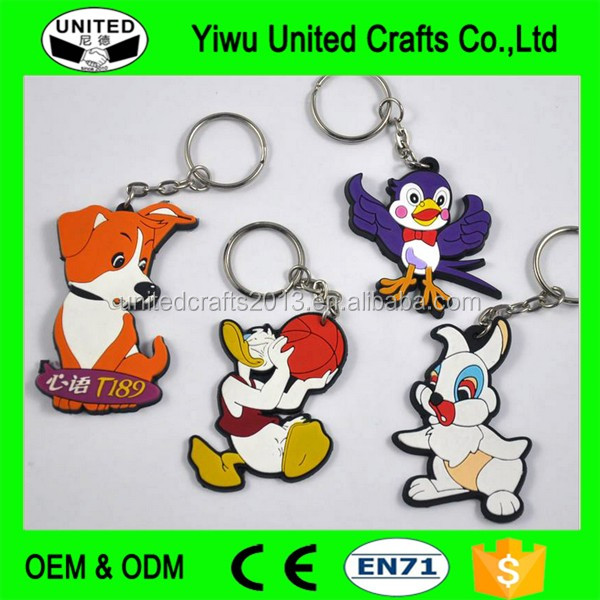 Promotional Souvenir Personalized Customized Soft PVC Rubber 3D Keychain