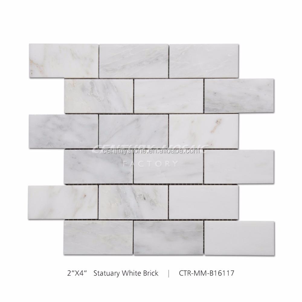 2x4 흰색 벽돌 패턴 모자이크 부엌 타일-모자이크 -상품 ID ...