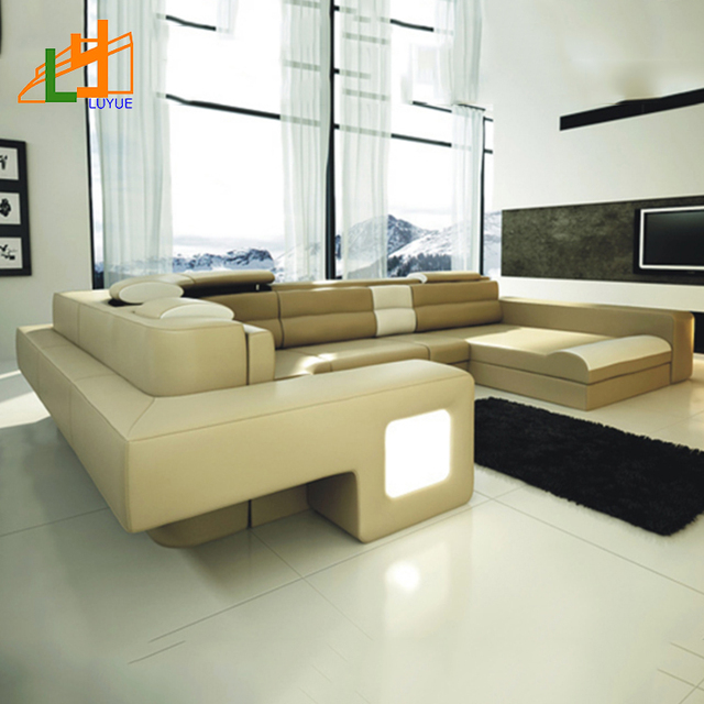 Modern couches for sale Designer Luxury Leather Corner Sofa Home Furniture Modern Sofa Sale With Light Colombiatravelinfo China Modern Sofa Sale Wholesale Alibaba