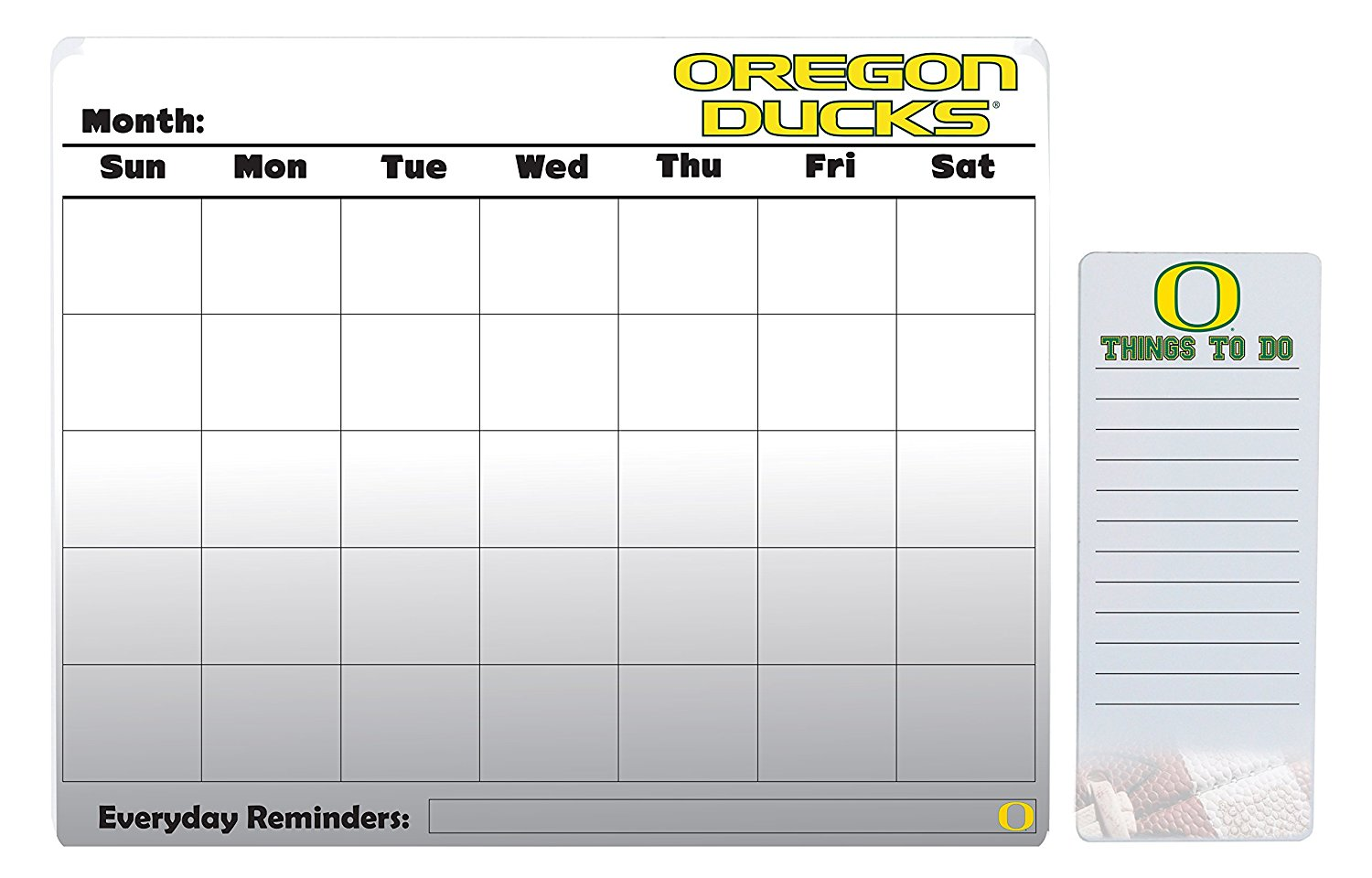 "Oregon Ducks 16"" x 20"" Dry Erase Calendar Peel and Stick and 4"" x 10"" Dry Erase Board Peel and Stick"