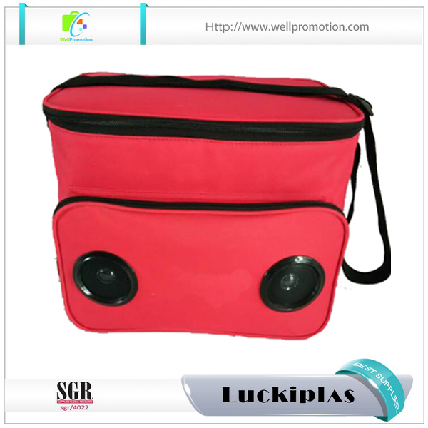 Newest Polyester Compact Speaker Coolers Custom logo cooler boxes
