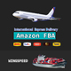 dhl ups air freight china to usa amazon germany/door to door delivery service to amazon fba uk air---Skype: +86 186 2032 7651