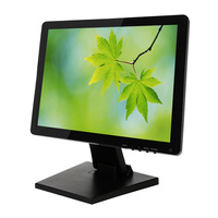 High quality ultra wide 15 17 19 inch usb vga capacitive / resistive touch screen monitor 17 inch