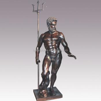 Antiguo Grecia figura de bronce Poseidón estatua de interior o al aire  libre Decoración f028d837d16b