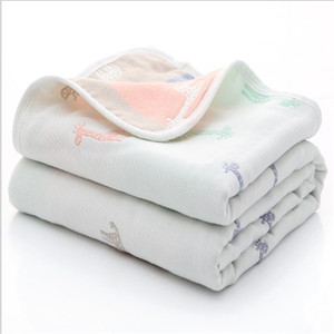 High Quality Cotton Blanket Baby Muslin Blanket Swaddle Soft Newborn Baby Bath Towel Multi Functions Baby Wrap Kids Bed Sheet