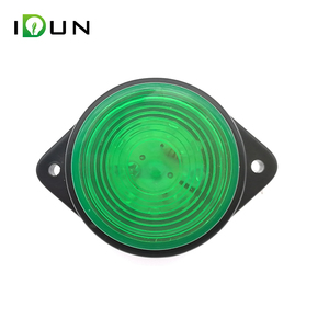 Truck Cab Trailer LED Side Marker Lights Clearance Lamp Green