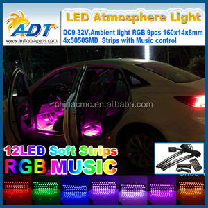 5050smd 48leds RGB 32v Truck LED Strip Light Car Interior and Exterior Bulb Auto Parts Floor Decorative Light