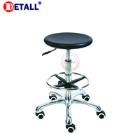 Detall laboratory PU simple tilting mechanism lab stool chair