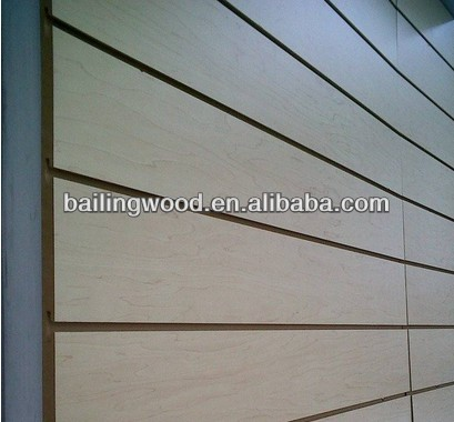 18mm slotted melamine covered MDF for decorative wall