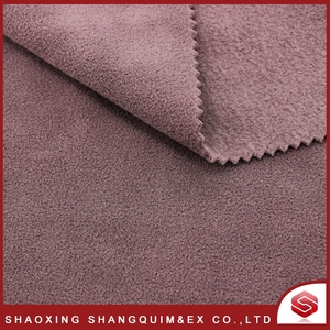 Moisture Wicking Polyester Polar Fleece Brushed Fabric for home textile