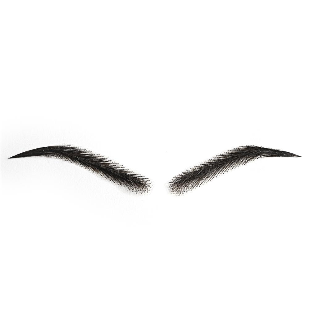 Alibaba.com / K.S WIGS Woman One Pair Eyebrows 100% Human Hair Handtied Invisible Lace False Eyebrows