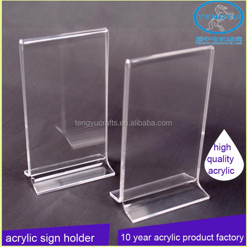 Forma de y plexiglás soporte vertical de doble cara A4 A5 A6 claro ...