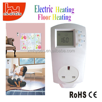 UK Electric Heating Temperature Switch Plug In Thermostat