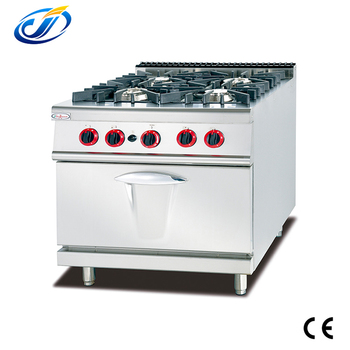 Cheap price cookers 4 burner table gas stove with bakery oven
