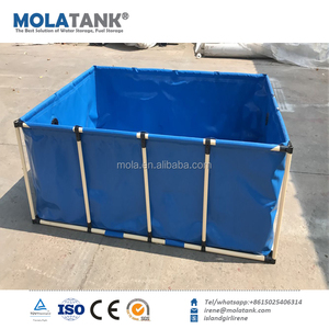 Foldable & collapsible PVC /TPU tarpaulin military water tank fish farming tank