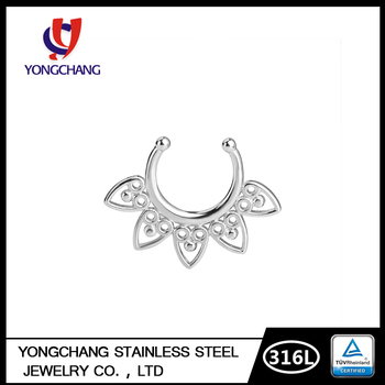 Celestial Filigree Non Piercing Septum Hoop Fake Nose Ring Body