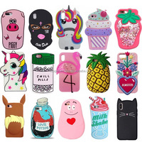 Cute Cartoon Shaped Silicone Phone Case for iPhone5 6 6S 7 8 8Plus