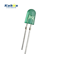 High brightness 3mm Green color led diode with Resistor inside