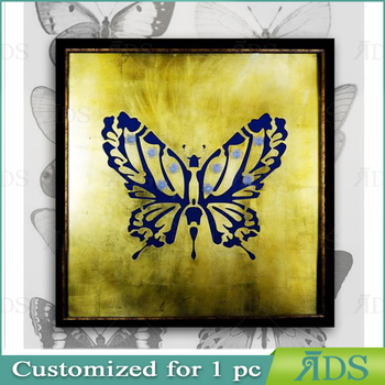 Wholesale Framed Handmade Butterfly Home Goods Wall Art Canvas