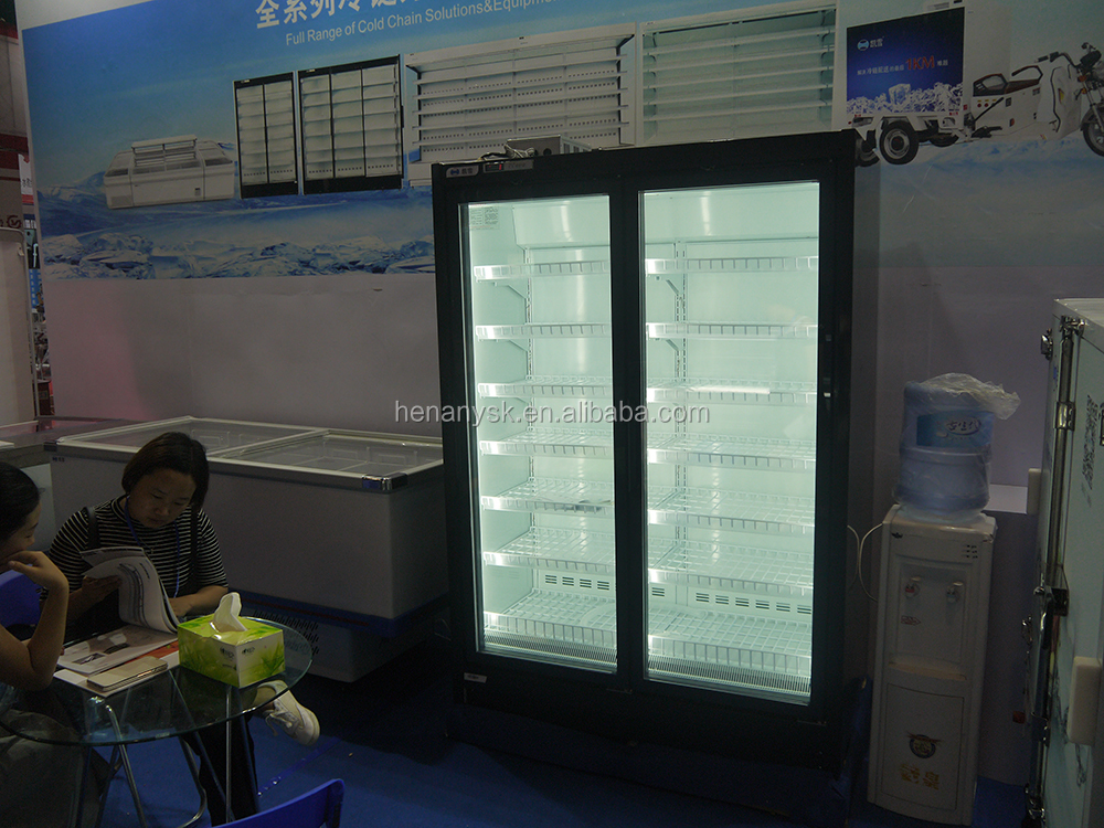 -22~-18 Degree Celsius High-Capacity Quickly Refrigeration 2 Doors Freezing Showcase For Meat Fish