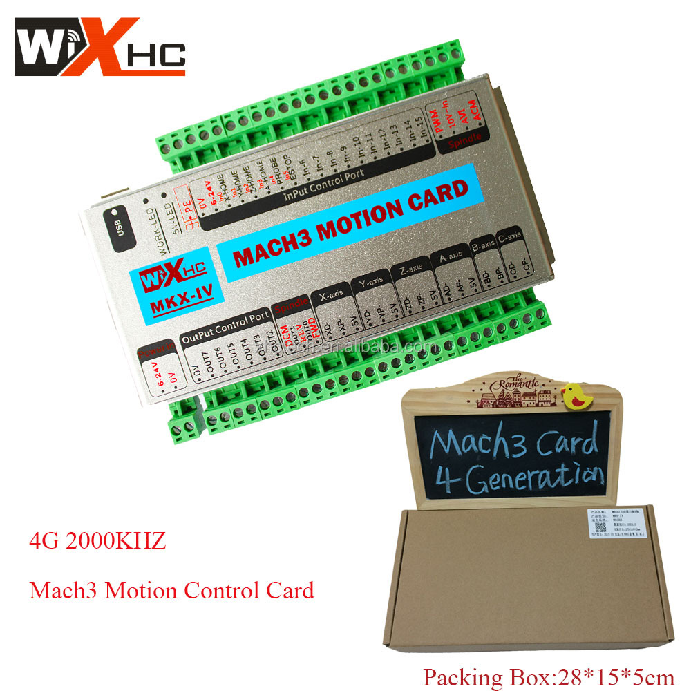 Factory wholesale engraving machines 5 axis 2000khz Mach3 cnc motion controller card