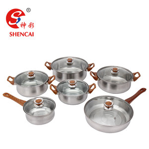 Kitchenware Pots And Pans Stainless Steel Cookware Set Induction Cooking