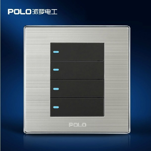 Home Light Switches: Wholesaer Smart Home 2013 Luxury Noble Wiredrawing Panel