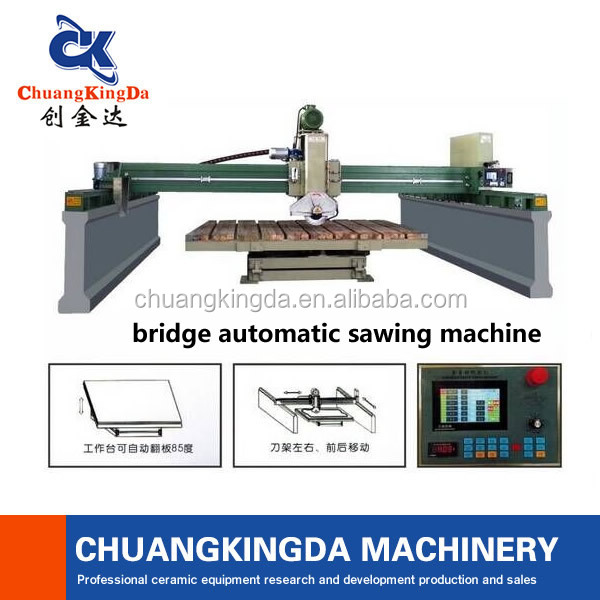 CKD-600 Granite stone slab cutting machines,CNC granite bridge saw for sale