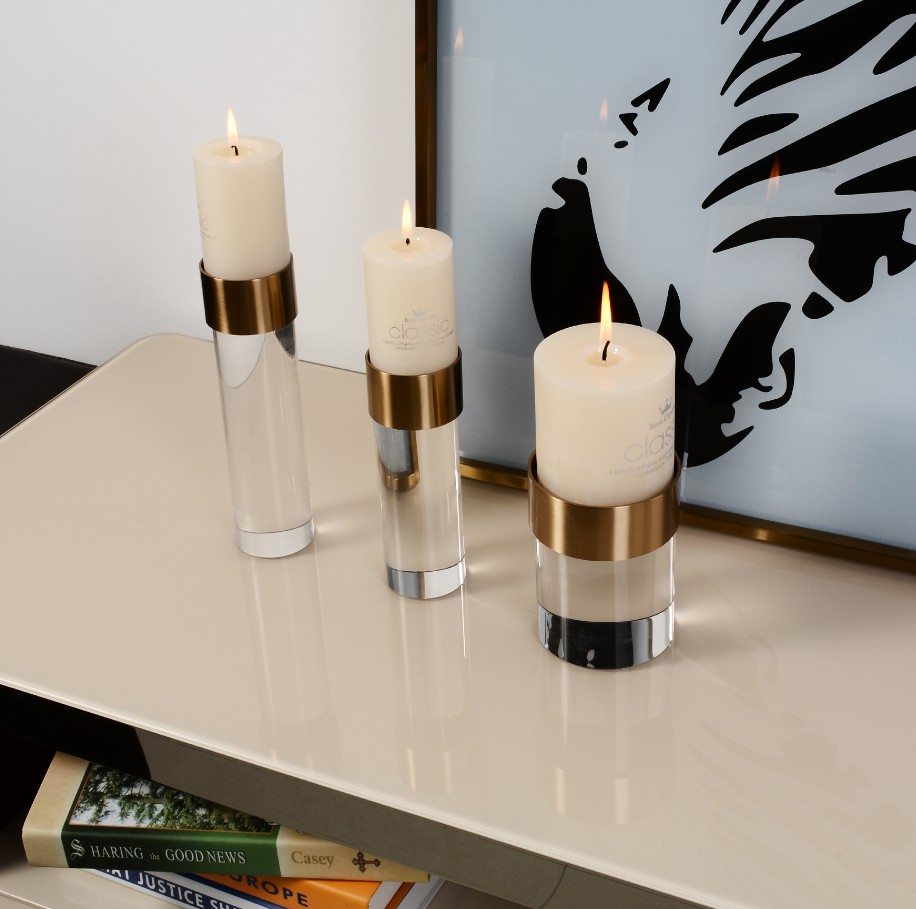 Crystal Cylindrical Candle Holders candlestick