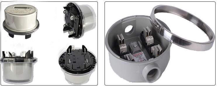 Dds5558 Ansi Socket Round 2s Type Kwh Meter Single Phase