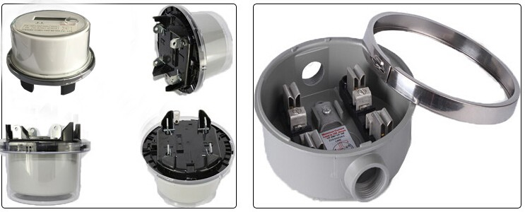 Dds5558 Ansi Socket Round 2s Type Kwh Meter Single Phase Digital Energy Electricity Meters