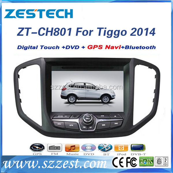 ZESTECH touch screen gps for Chery Tiggo 5 car dvd with 8 inch auto dvd