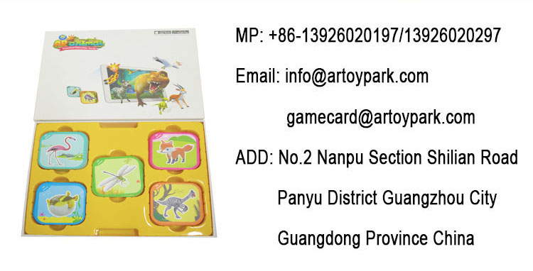 2019 Top Autism Educational Toy Free Sample Kids Learning Cards AR 4D Flashcards APP Game
