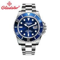 Gladster Luxury Brand Custom Automatic Mechanical Watches Luminous Rolexable Men Watches Chinese Manufacturer Male Diver Watches