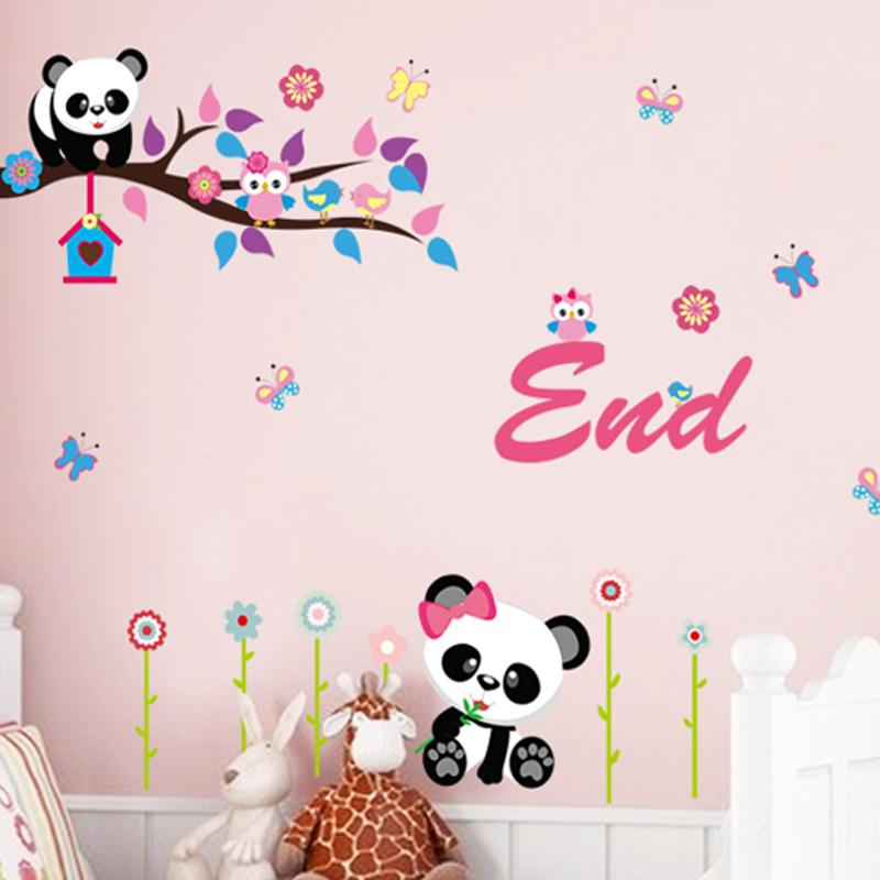 Home Decoration And Furnishing Articles Couple Characters: Owl Cartoon Tree Wallpaper