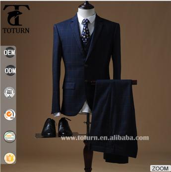 2016 Custom Slim Fit Suit Italian Classic Checked Men Suits - Buy ...