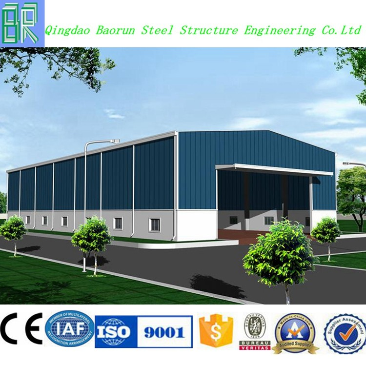 Light prefabricated steel construction warehouse factory building