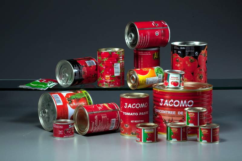 28-30% Pure Tomato Paste 400g easy open Canned Food Pasta canned package tomato double concentrate