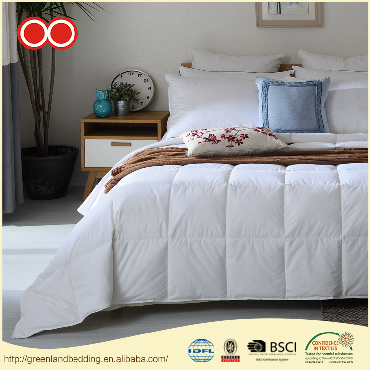 Prompt Delivery Safety Item 100% Cotton Quilt Luxury Alternative Washed Hotel Duck Down Duvet